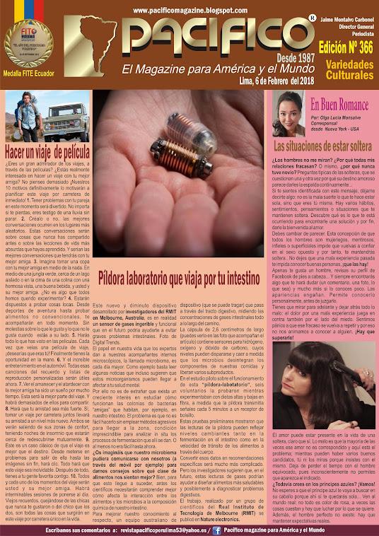 Revista Pacifico Nº 366 Variedades Culturales