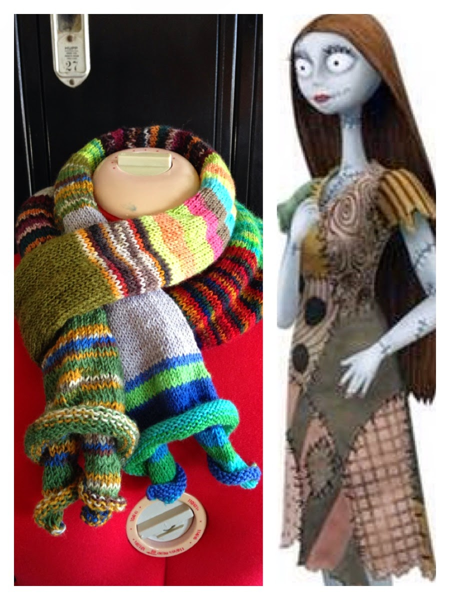 Knitting Pattern Nightmare Before Christmas : Merryweathers Cottage: Hand-knit Nightmare Before Christmas Themed Sally...