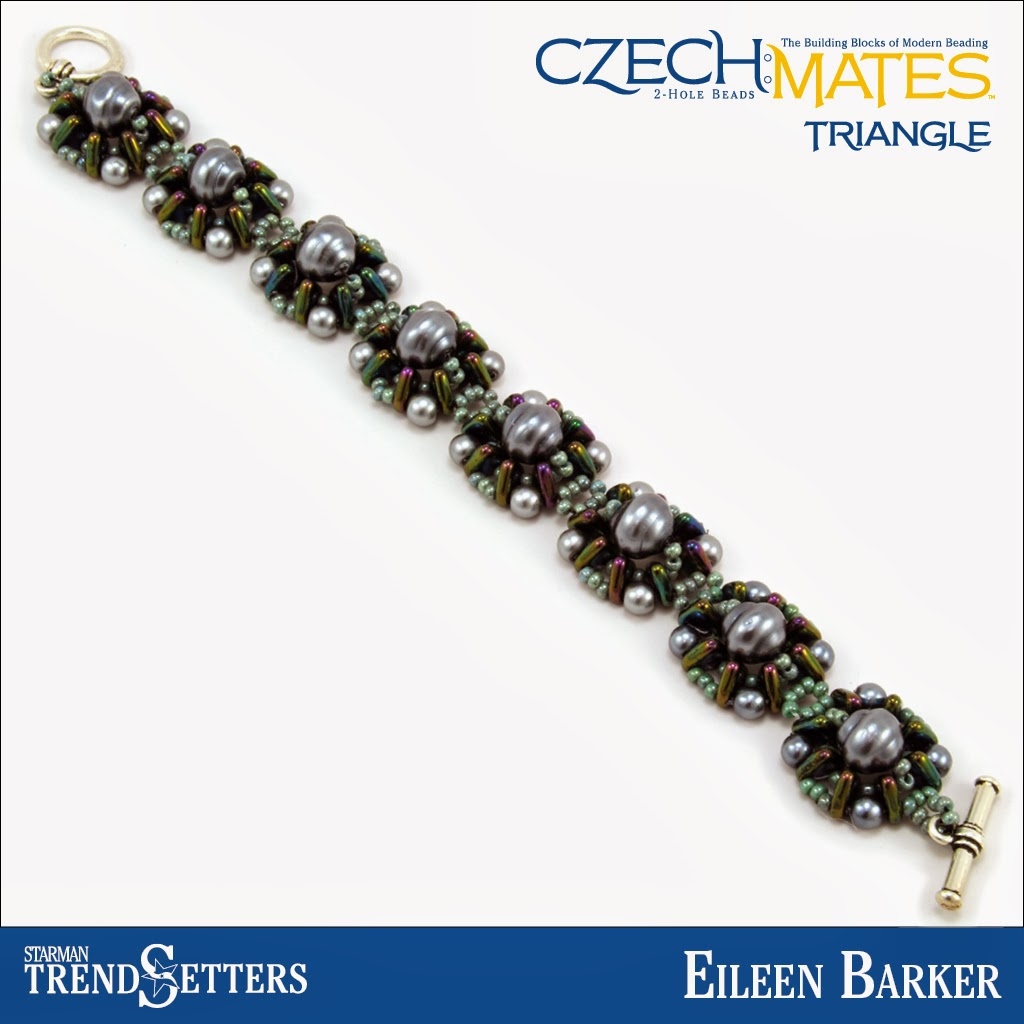 CzechMates Triangle bracelet by Starman TrendSetter Eileen Barker