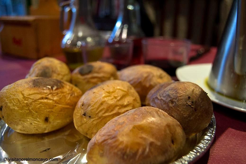 Patatas asadas San Anton Tarazona bendicion de animales