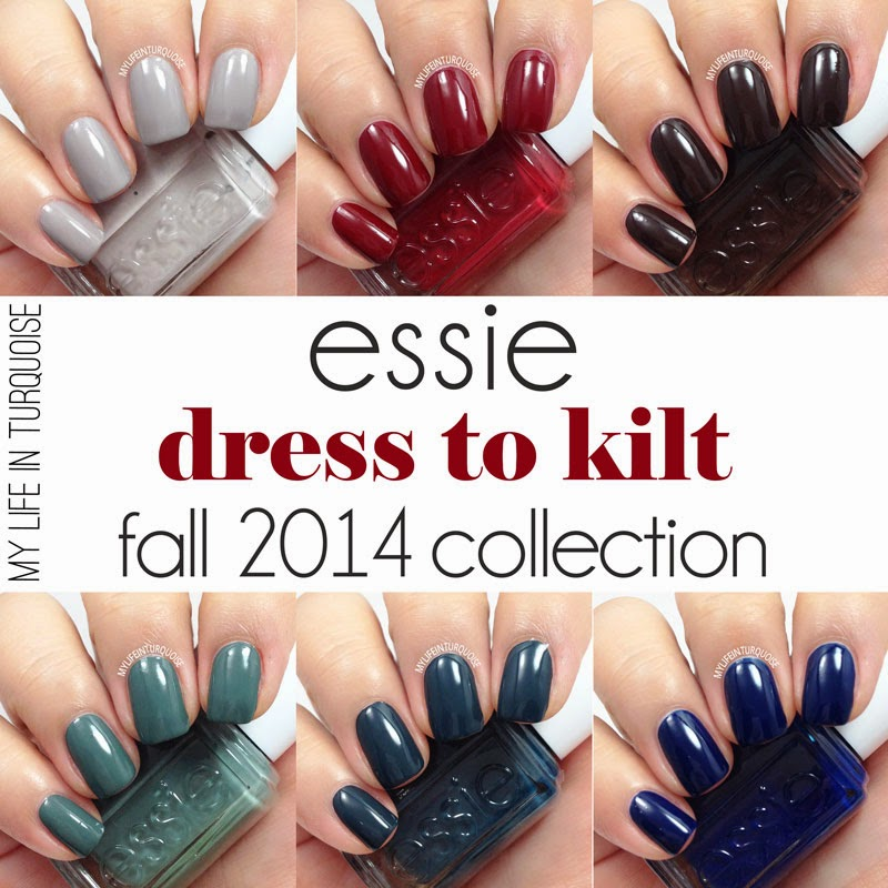 My Life in Turquoise: Nail Polish Review Essie Fall 2014