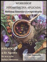 WORKSHOP DE FITOMEDICINA APLICADA: SISTEMA INMUNE Y RESPIRATORIO Clic sobre la foto para ver info