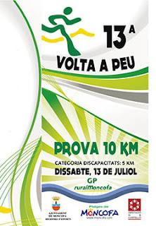 Cartel Volta a Peu Platges de Moncofa 2013