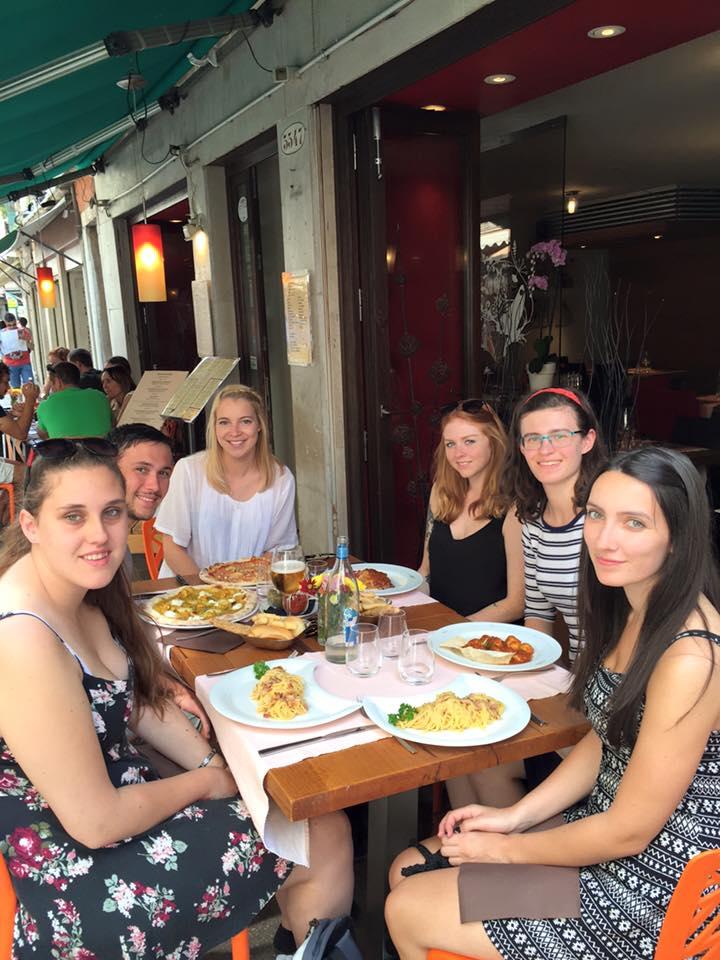 Venice meal Contiki