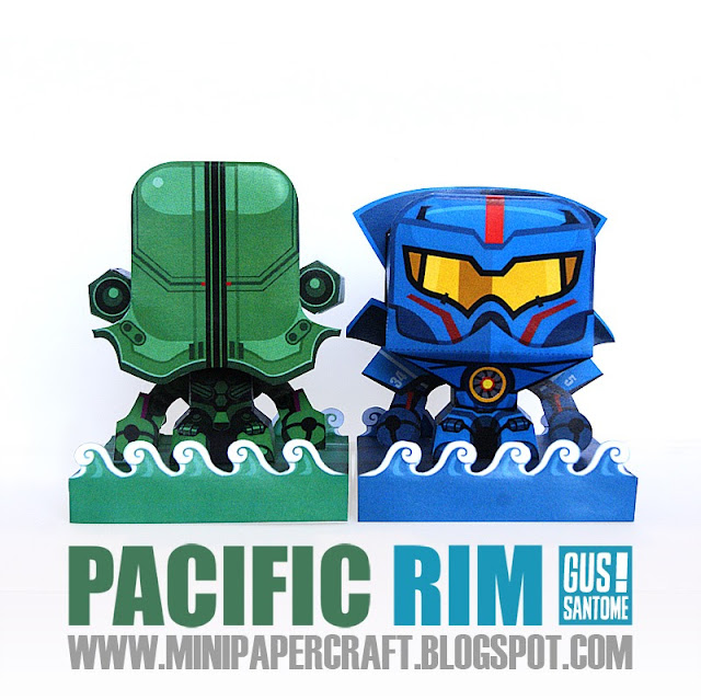 Mini Pacific Rim Papercraft - Jaegers