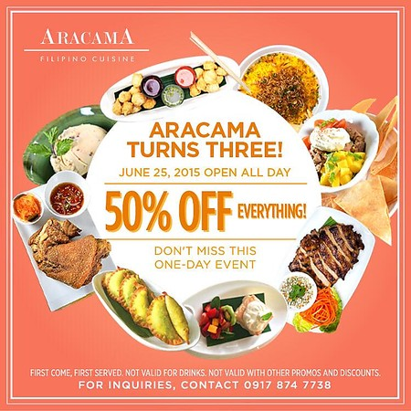 food fiesta philippines aracama celebrates third anniversary with one day food promo. Black Bedroom Furniture Sets. Home Design Ideas