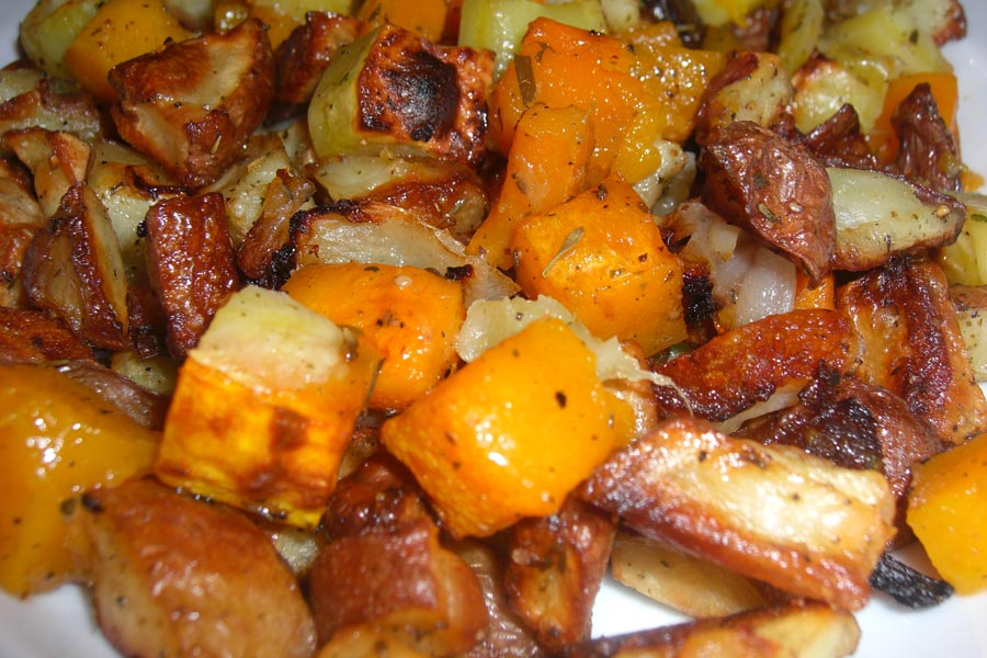 ... Free Connoisseur: Roasted Root Vegetables with Goat Cheese Medallions