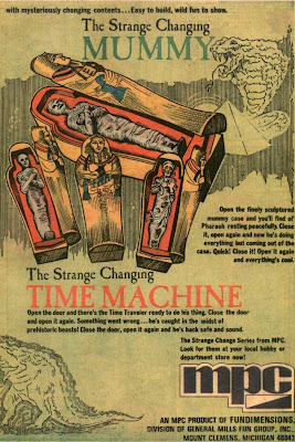 Right side of ad for Strange Change Vampire, Mummy and Time Machine