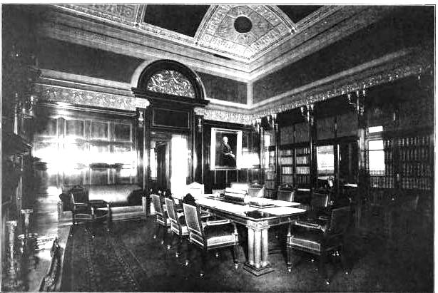 The Ornate Assembly Room (top) And Library Were On The Second Floor    Clearing  House Of New York City, 1904 (copyright Expired)