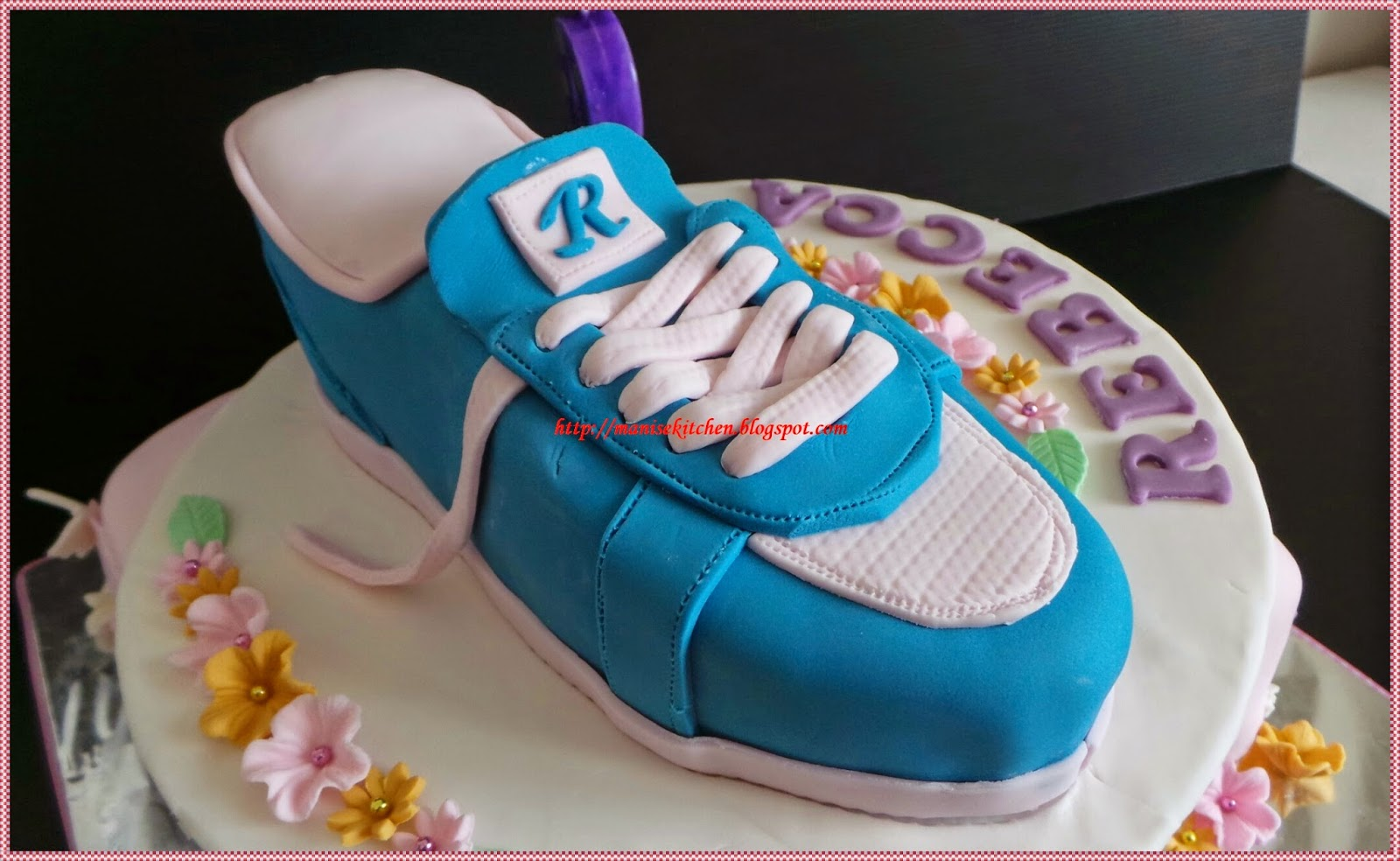 manise kitchen: Shoe Cake for Rebecca Carsonia Berhitoe