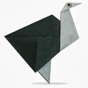 Ostrich Origami