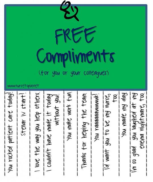 ER Nurses Care: Free Compliments for Nurses or anyone else