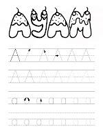 Belajar Menulis Huruf Alfabet A