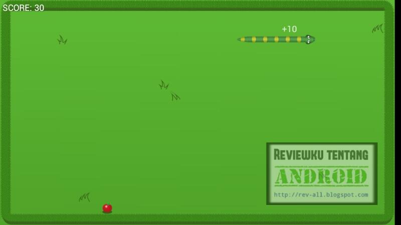 Screenshot mulai bermain permainan HUNGRY SNAKE oleh rev-all.blogspot.com
