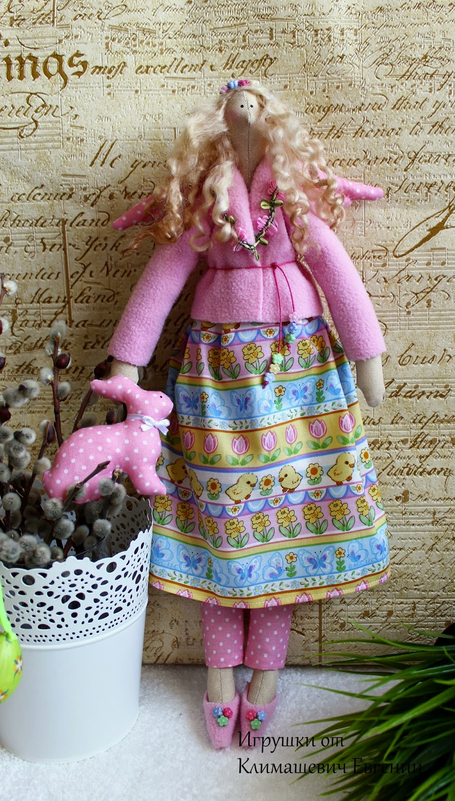 Весенняя фея, тильда, тильда фея, тильда ангел, кукла тильда, сшить тильду, мастер класс тильда, выкройка, выкройка тильда, купить тильду, игрушки, кукла, кукла своими руками
