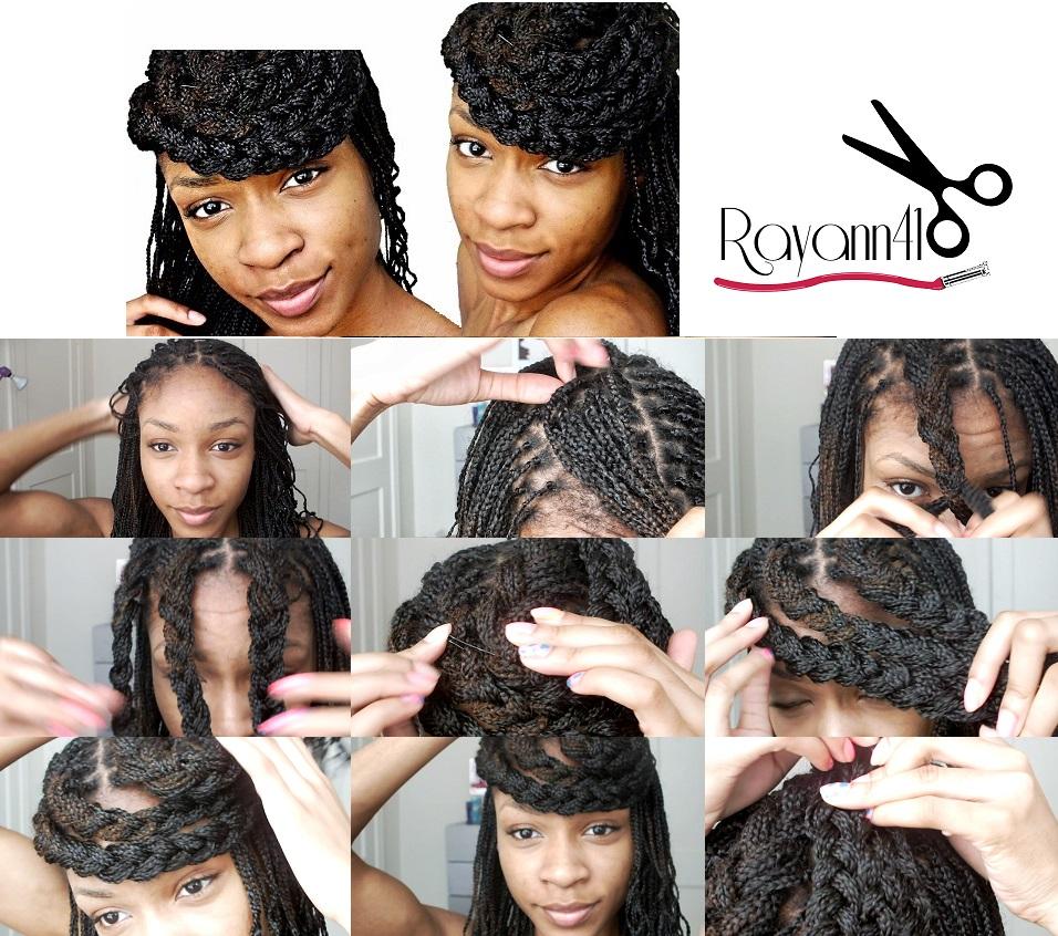 Box Braids With Bangs Box braids bangs tutorial