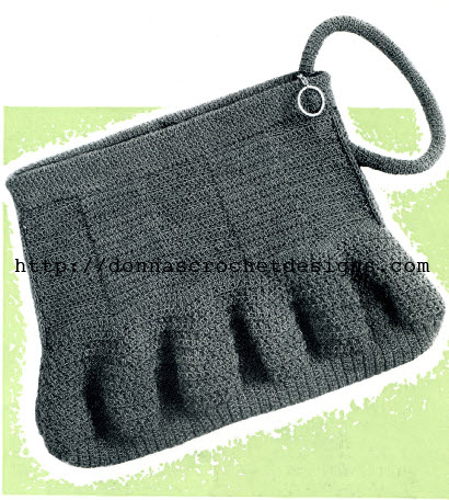 Free Vintage Crochet Bag Pattern : The Vintage Pattern Files: 1940s Crochet - Purse & Hat ...