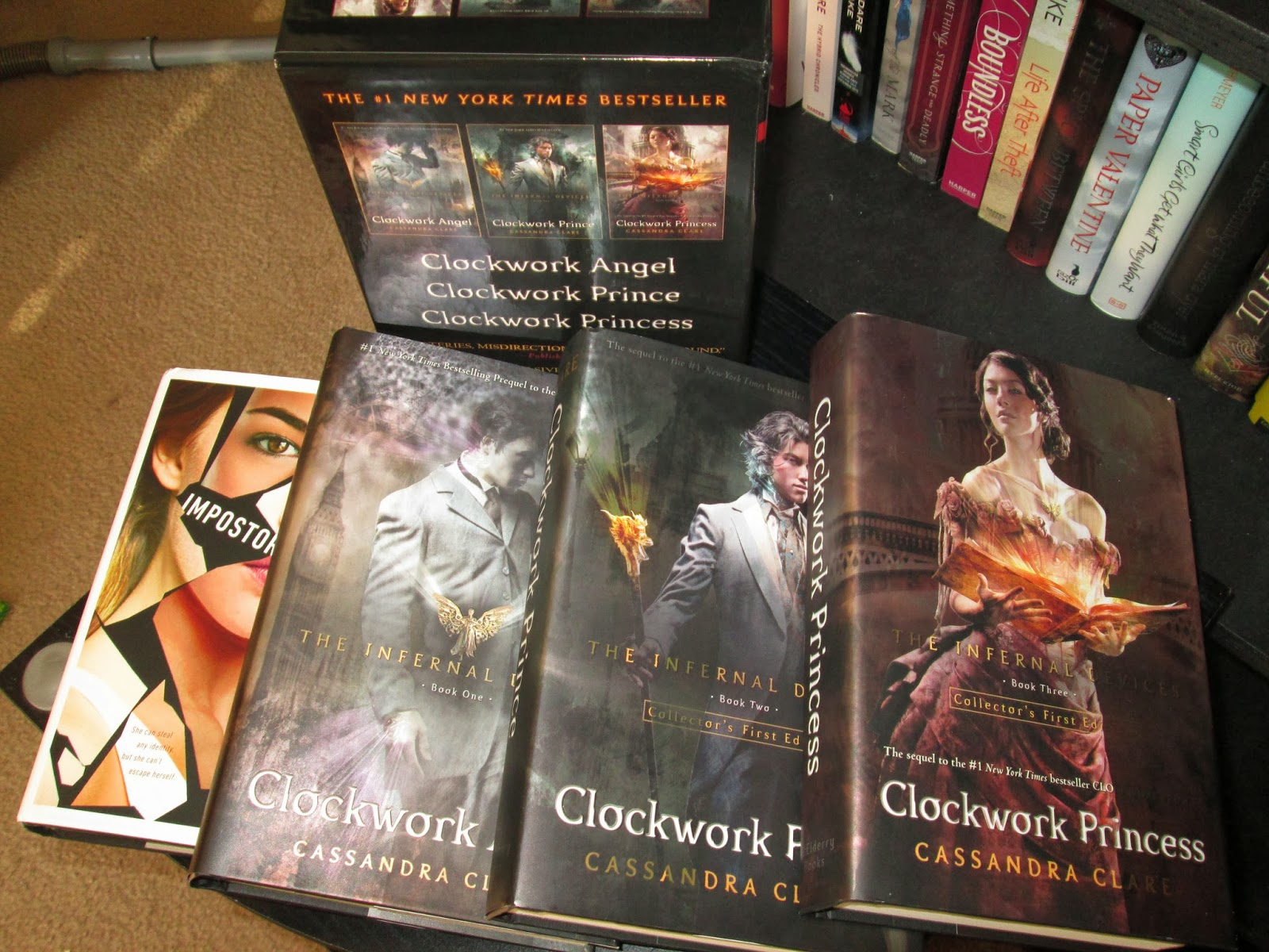 The Infernal Devices Boxset: Clockwork Angel; Clockwork Prince; Clockwork  Princess By Cassandra Clare Revealing Us (inside Out #3) By Lisa Renee  Jones
