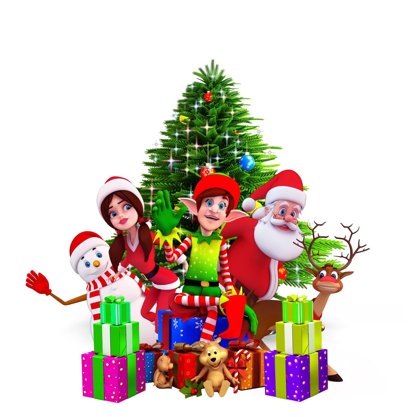 Banco de im genes pinito de navidad con personajes y for Ver figuras de navidad