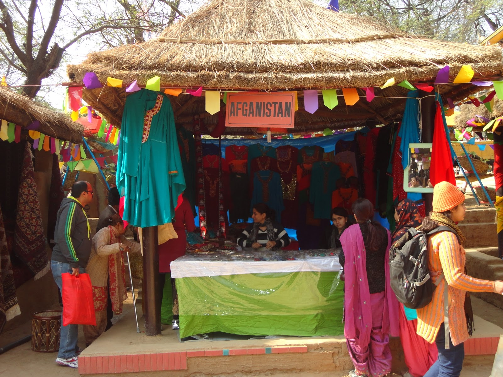 The Afghanistan Stall at Surajkund Crafts Mela,India
