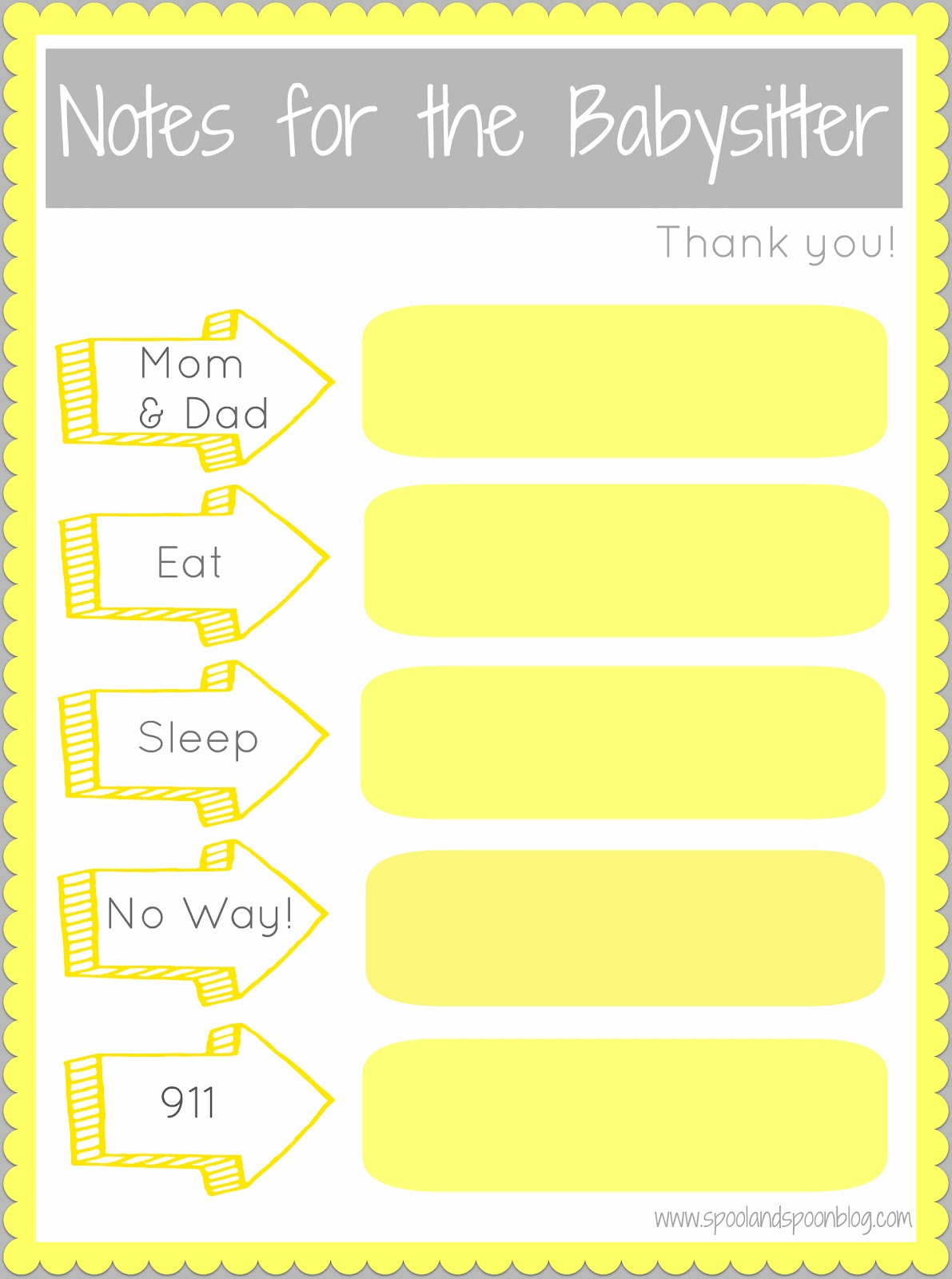 Babysitting fill out form parents likewise babysitter information