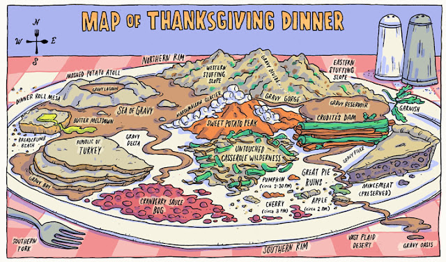 Thanksgiving dinner map