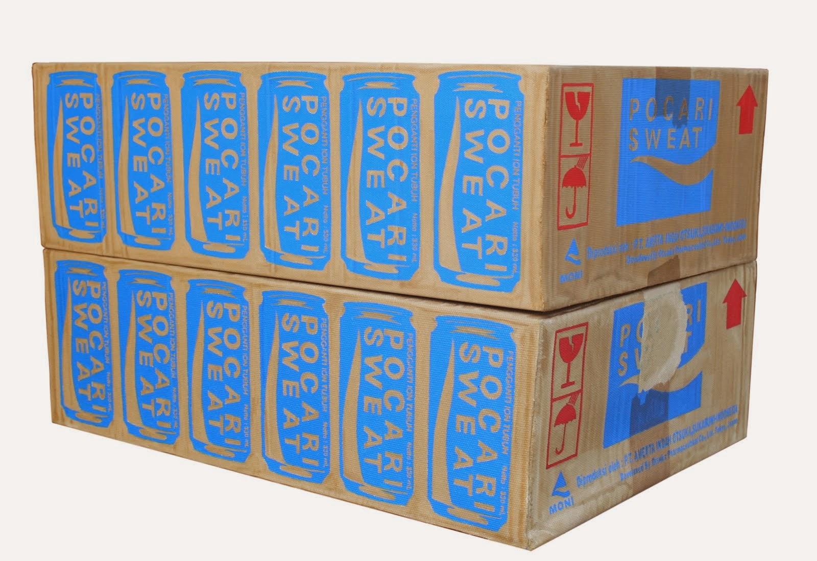 Pocari Box 1&2 life size,
