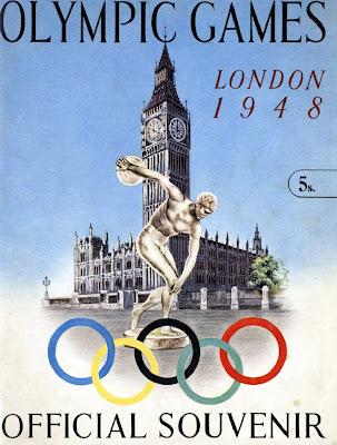 1948 London Olympics souvenir poster