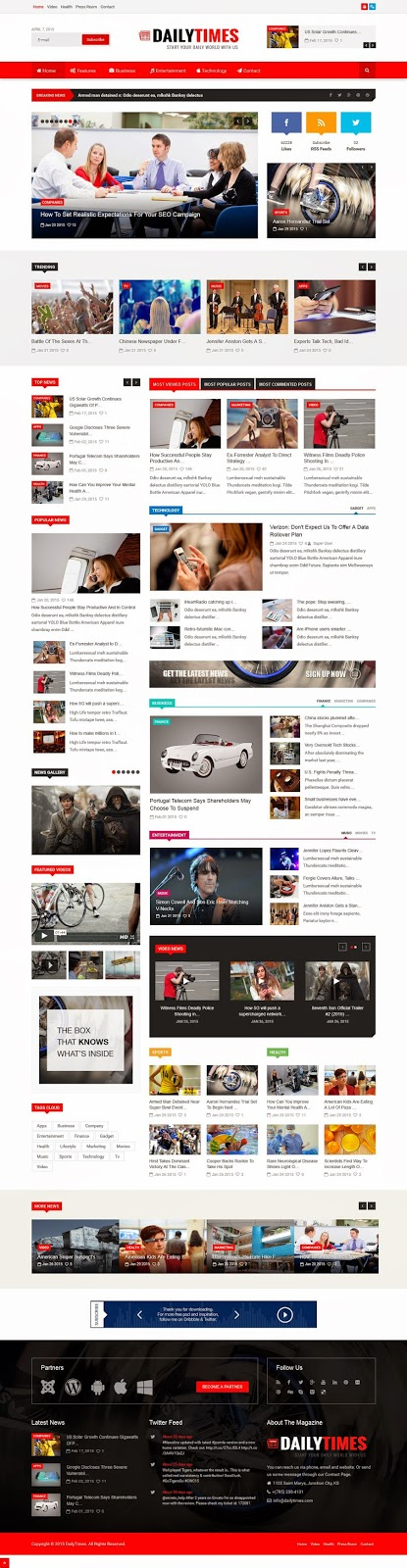Best Responsive Joomla News and Magazine Template