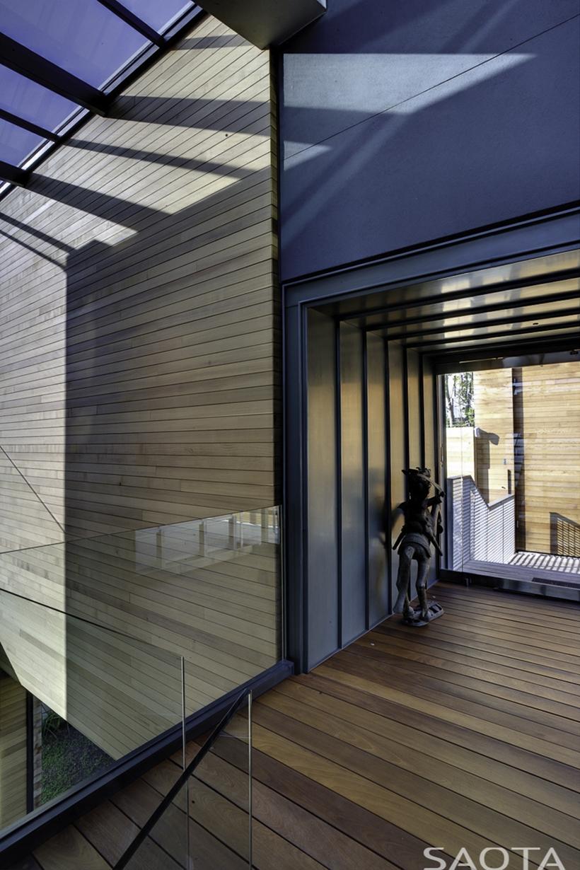 Contemporary wooden facade