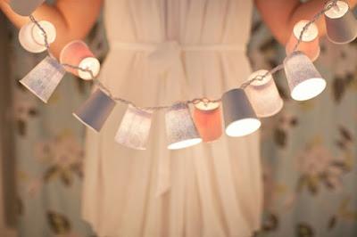 dixie+cup+lights - Easy DIY Holiday Decor