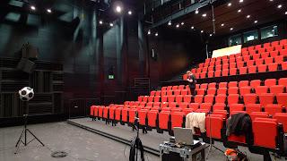 Sala prób orkiestry Teatru Capitol podczas pomiarów akustycznych.