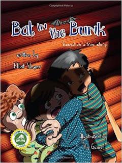 bat in the bunk, elliot sloyer, picture book, camp stories book, summer stories book, camp picture book
