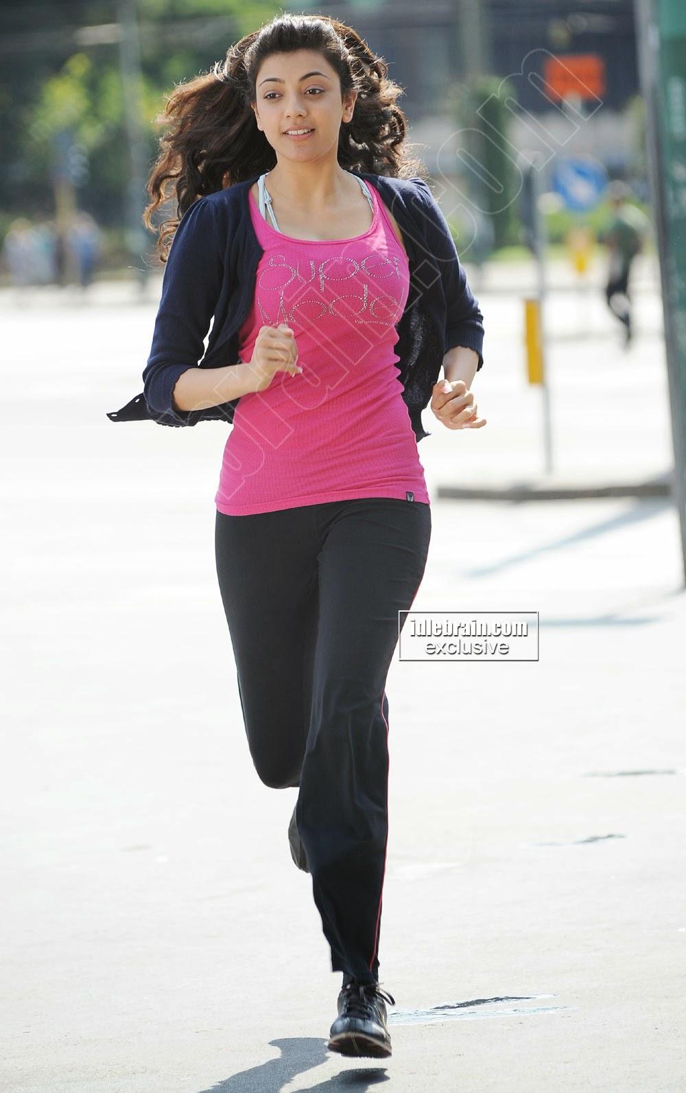 Kajal Agarwal running