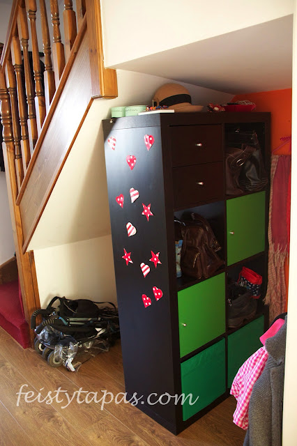 Ikea expedit brown black green unit drawers cupboards baskets