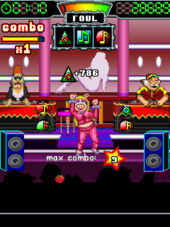 Screenshots of the Muppets: Dance Party for java mobile, phone.