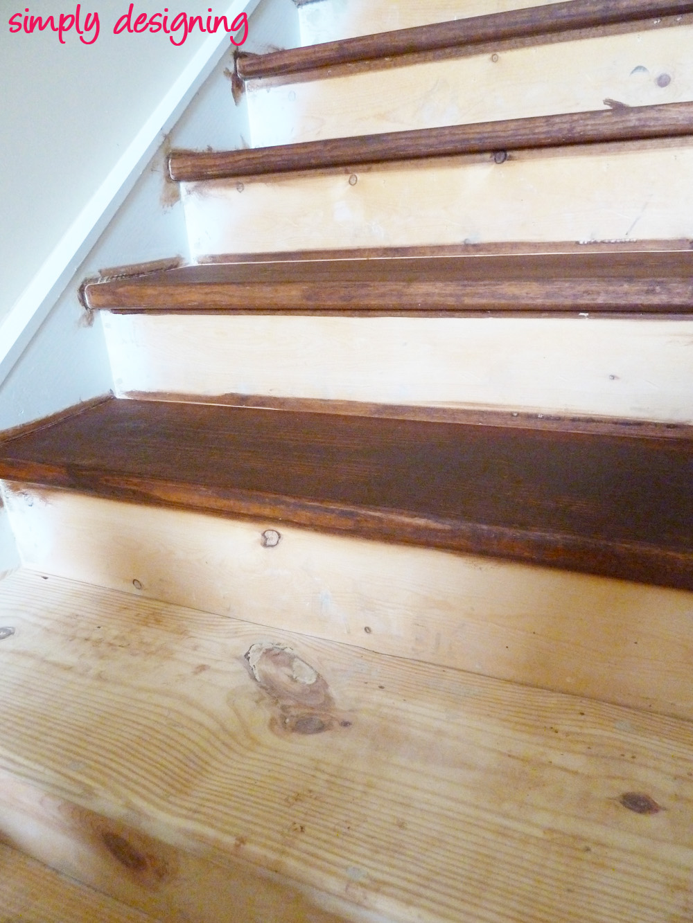 How To Hardwood Stairs Staircase Make Over Part 2 And It All Went Downhill