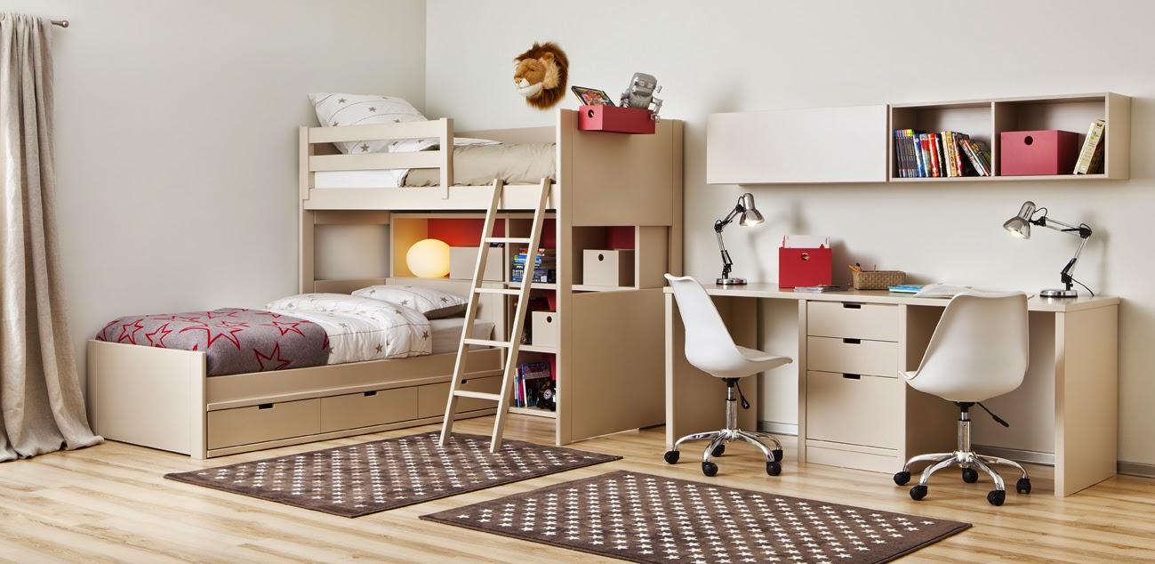 Dormitorios juveniles para dos hermanos for Sofa cama para habitacion juvenil