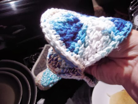 All Wool And A Yard Wide Crochet Oven Mitt On The Hook