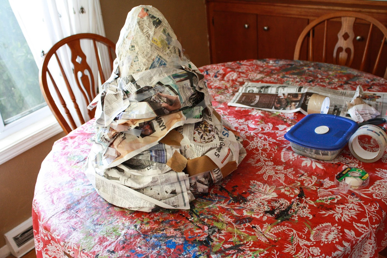 how to make a paper mache mountain