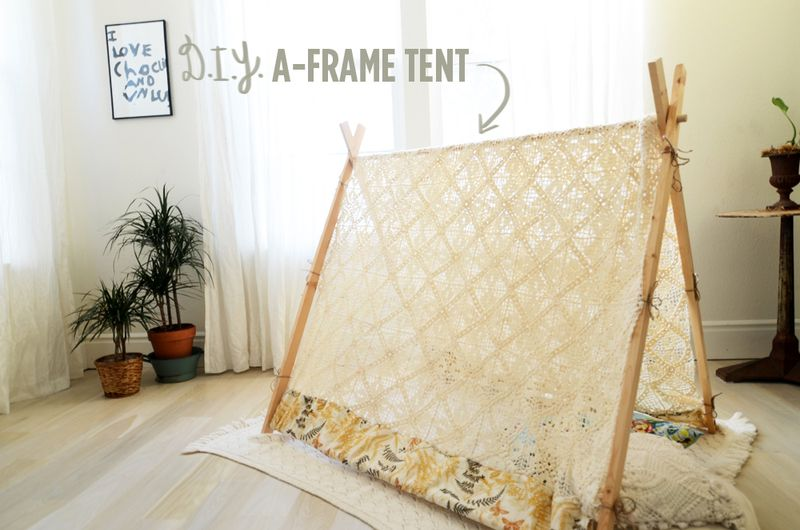 How to make your own a frame tent home decorating ideas for Build your own canvas tent