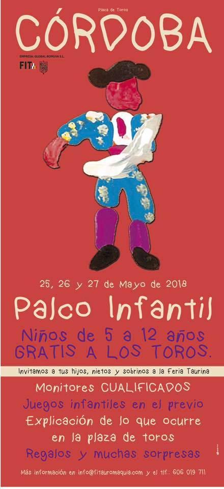 CÓRDOBA (ESPAÑA) DIAS 25-26 Y 27 DE MAYO. PALCO INFANTIL