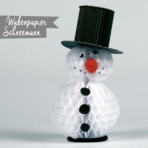 pro spiel hausgemacht wabenpapier schneemann. Black Bedroom Furniture Sets. Home Design Ideas