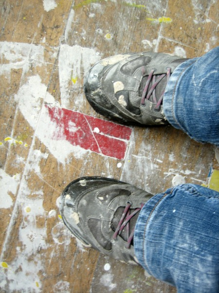 plaster on shoes - Our Handmade Home
