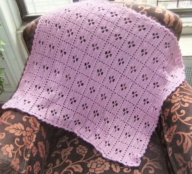 Knitting Pattern For Call The Midwife Blanket : Rebeccas Crochet Blog: Call The Midwife Blanket in pink, finished!