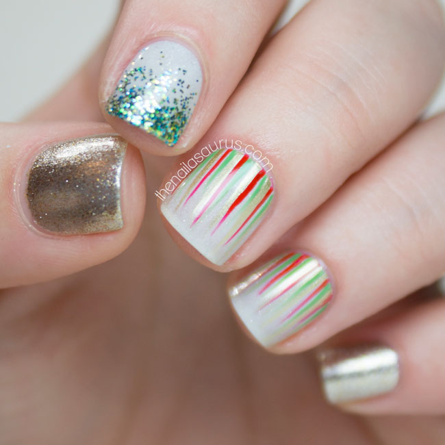 My Christmas Manicures 2014 The Nailasaurus Uk Nail Art Blog
