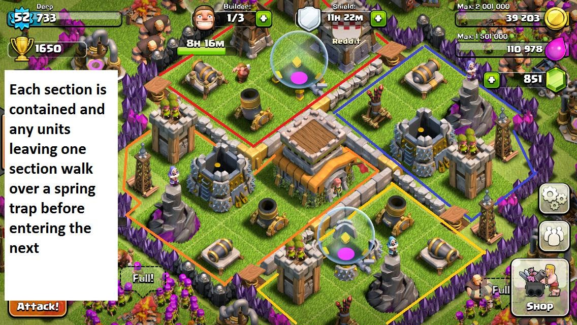 Clash of clans best clan castle troops on defense clash