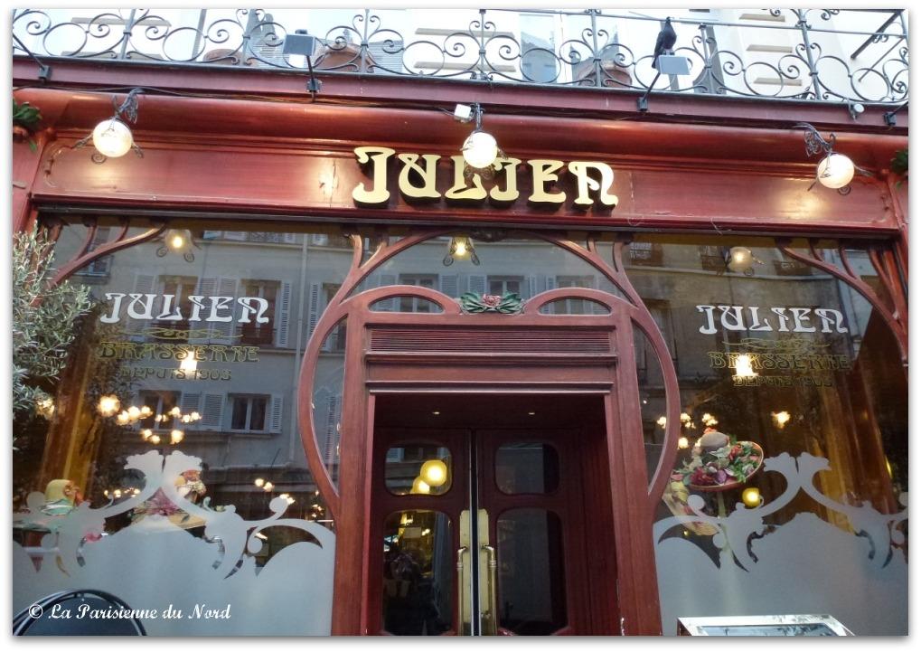 brasserie julien le charme d une brasserie art nouveau la parisienne du nord. Black Bedroom Furniture Sets. Home Design Ideas