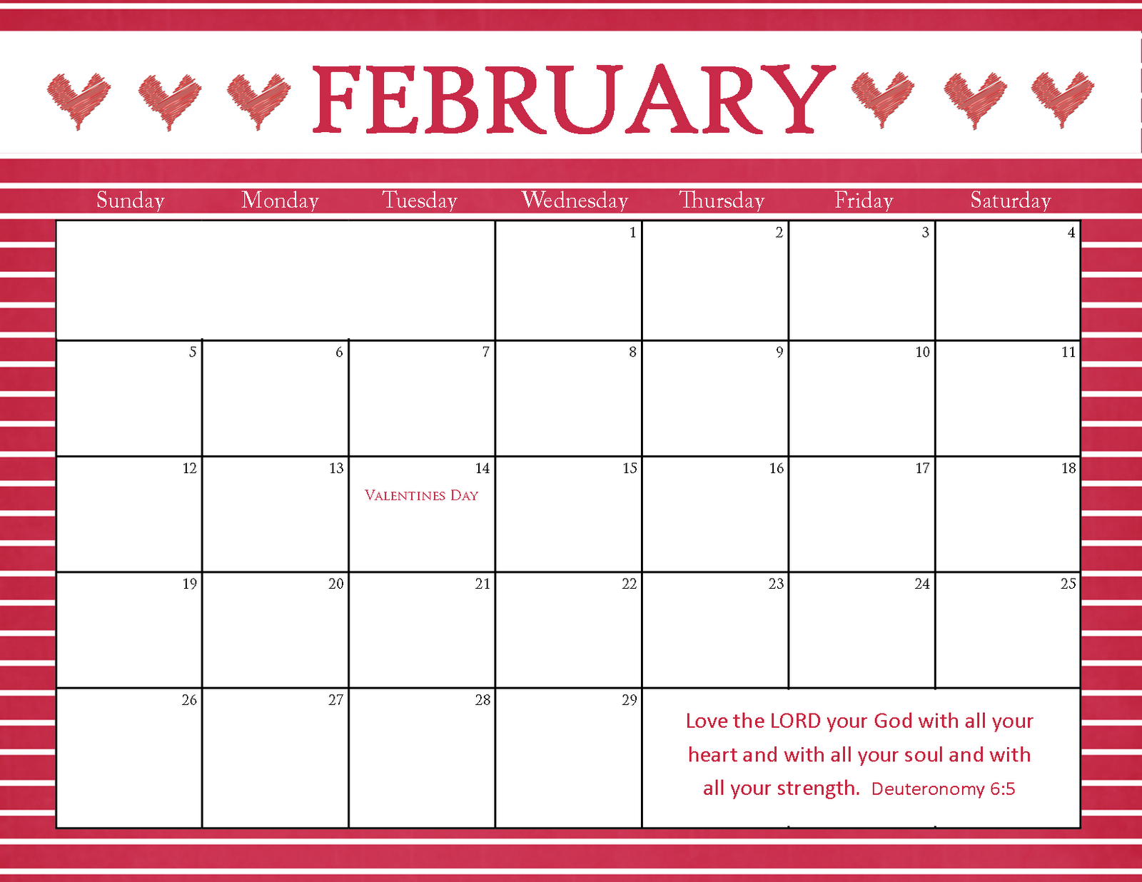 The Blogging Pastors Wife: Printable Calendars for February 2012