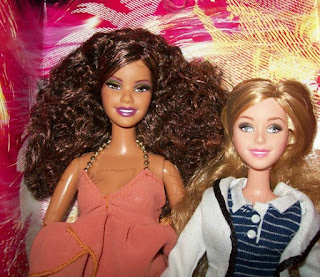 Mattel Carnival Barbie (left) and High School Musical Tiara Gold (right)